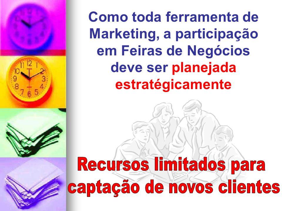 Como toda ferramenta de Marketing, a participação em Feiras de Negócios deve ser planejada estratégicamente