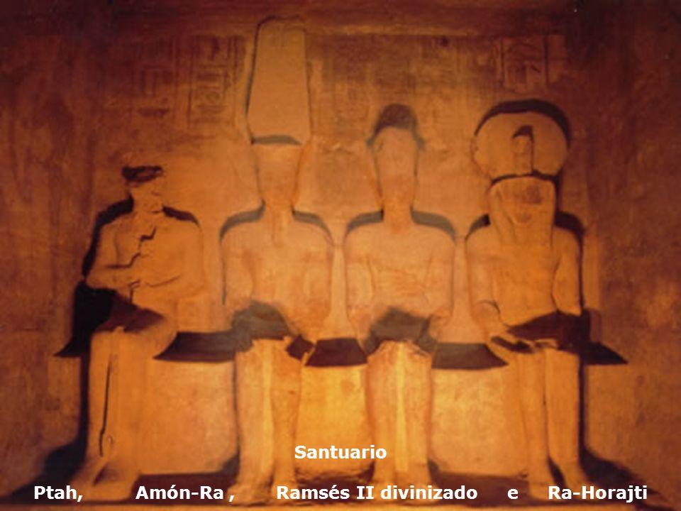 Santuario Ptah, Amón-Ra, Ramsés II divinizado e Ra-Horajti