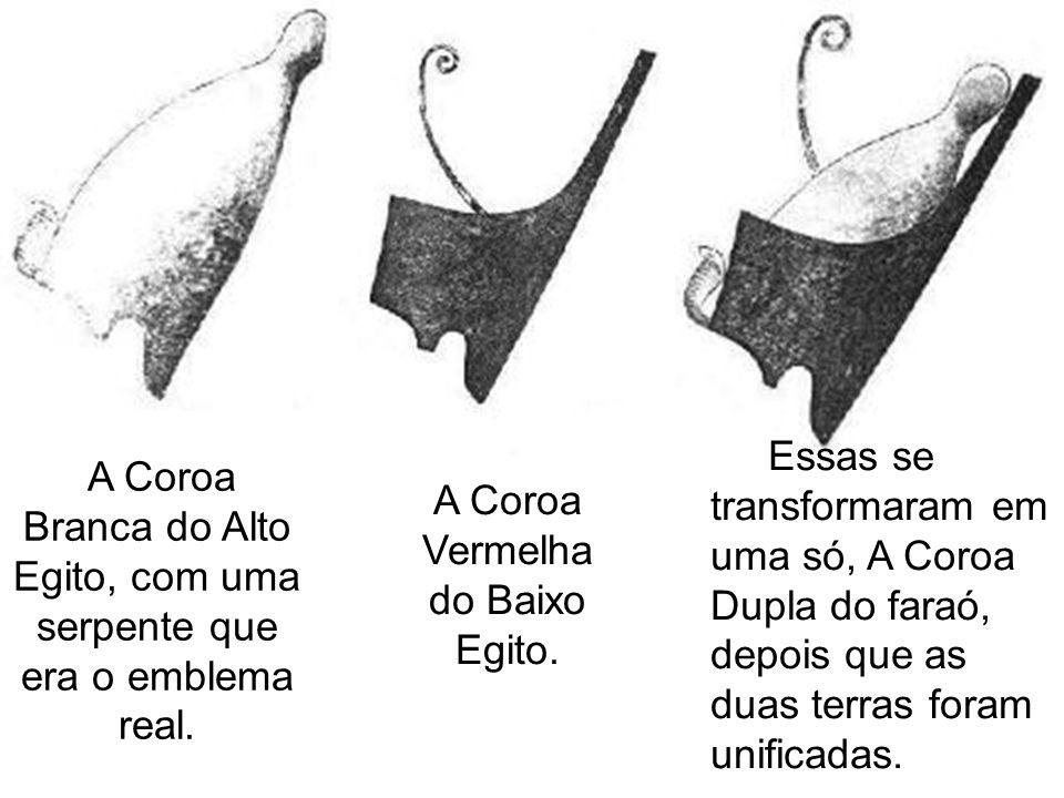A Coroa Hemhemet, constituída de feixes de papiro e discos solares era raramente usada.