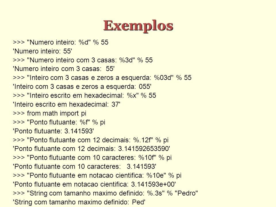 Exemplos >>>