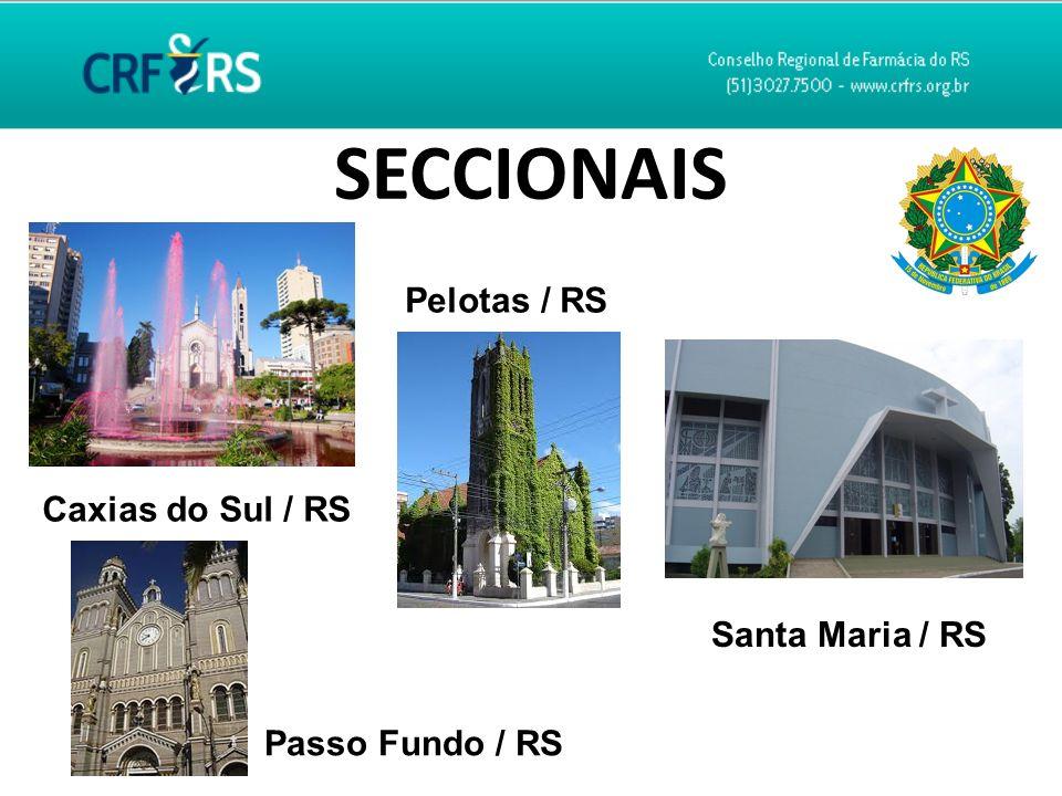 SECCIONAIS Caxias do Sul / RS Pelotas / RS Passo Fundo / RS Santa Maria / RS