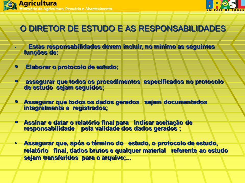 O DIRETOR DE ESTUDO E AS RESPONSABILIDADES Estas responsabilidades devem incluir, no mínimo as seguintes funções de: Estas responsabilidades devem inc