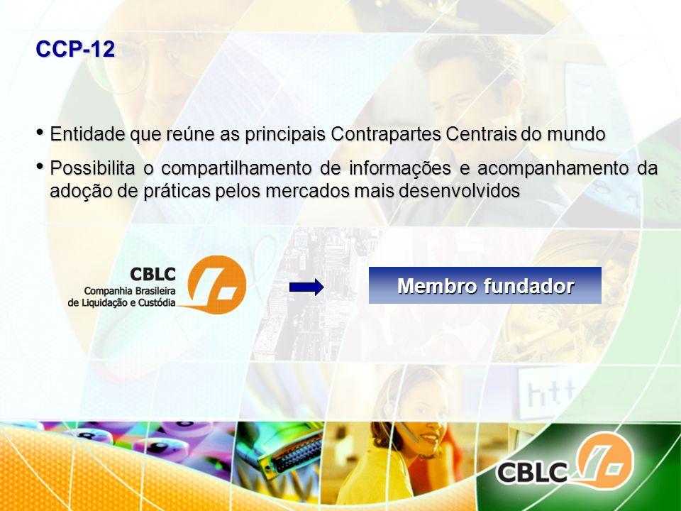 CCP-12 Entidade que reúne as principais Contrapartes Centrais do mundo Entidade que reúne as principais Contrapartes Centrais do mundo Possibilita o c