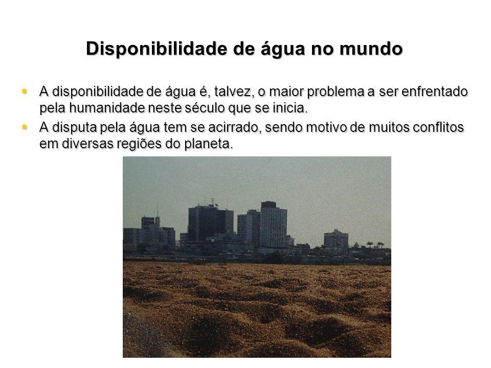Estado dos Recursos Hídricos no Brasil GEO BRASIL / Recursos Hídricos Recursos Hídricos – –O Brasil tem posição privilegiada no mundo – –A vazão média anual dos rios em território brasileiro é de cerca de 180 mil metros cúbicos por segundo (m 3 /s); o equivalente ao conteúdo somado de 72 piscinas olímpicas fluindo a cada segundo; valor corresponde a aproximadamente 12% da disponibilidade mundial de recursos hídricos, que é de 1,5 milhões2 de m 3 /s.