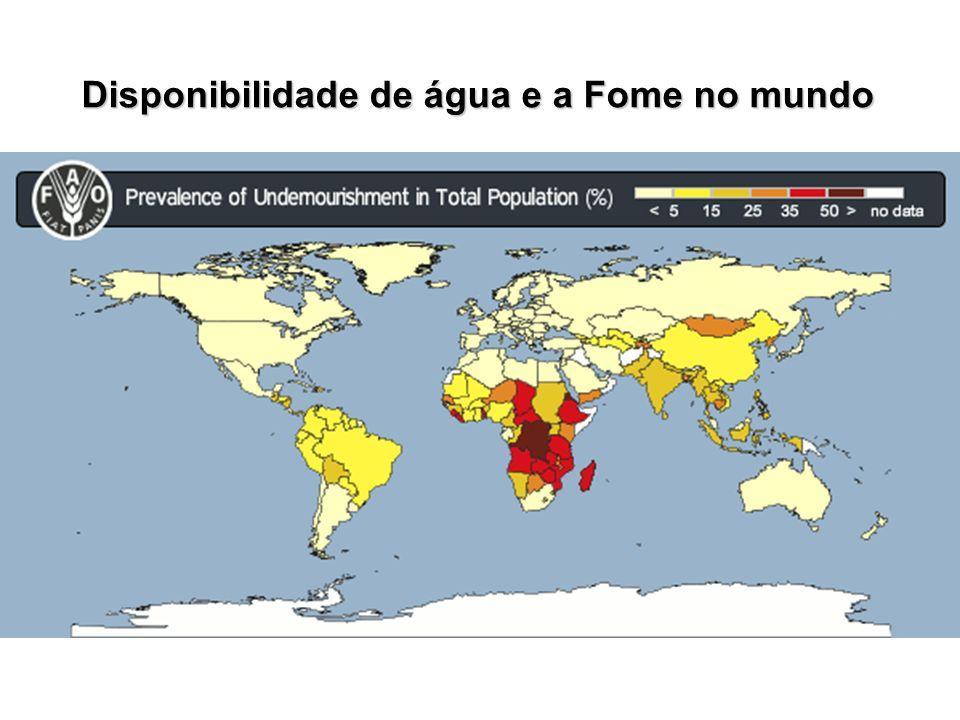 Disponibilidade de água e a Fome no mundo