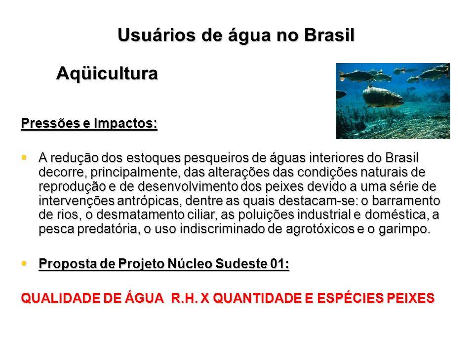 Aqüicultura Pressões e Impactos: A redução dos estoques pesqueiros de águas interiores do Brasil decorre, principalmente, das alterações das condições
