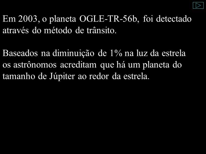 Em 2003, o planeta OGLE-TR-56b, foi detectado através do método de trânsito. Baseados na diminuição de 1% na luz da estrela os astrônomos acreditam qu