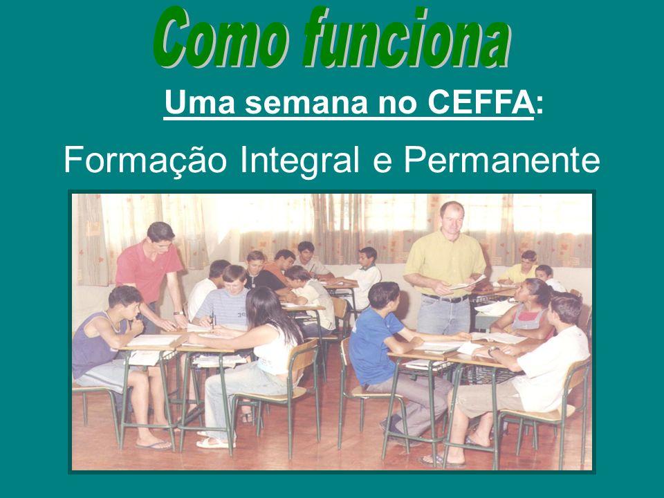 Uma semana no CEFFA: Formação Integral e Permanente