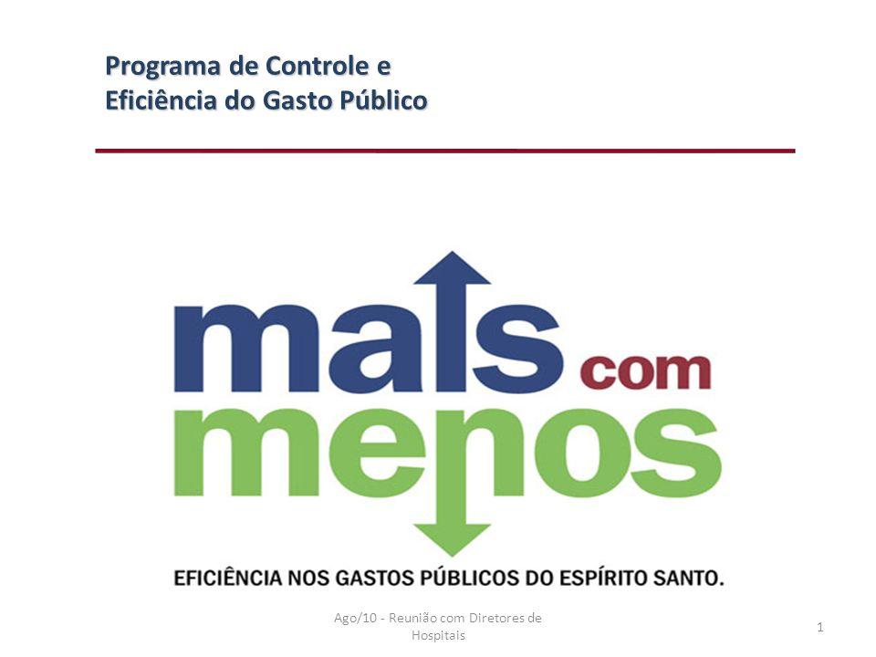 Programa de Controle e Eficiência do Gasto Público Ago/10 - Reunião com Diretores de Hospitais 1