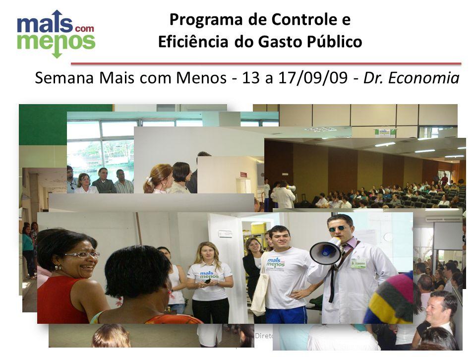 Programa de Controle e Eficiência do Gasto Público Ago/10 - Reunião com Diretores de Hospitais Semana Mais com Menos - 13 a 17/09/09 - Dr. Economia 12