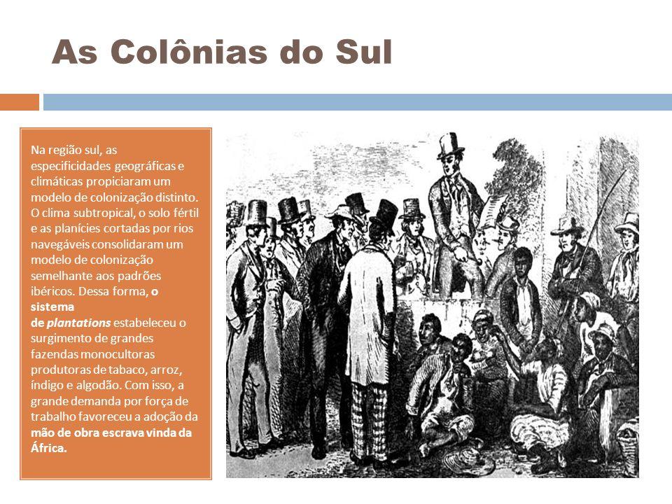 As Colônias do Sul Na região sul, as especificidades geográficas e climáticas propiciaram um modelo de colonização distinto. O clima subtropical, o so