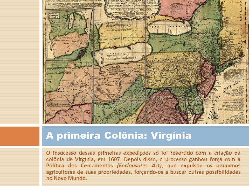 Conflitos Religiosos Os conflitos religiosos que tomaram conta da Inglaterra após a reforma anglicana também motivaram a imigração dos puritanos (Calvinistas) ingleses para a América.