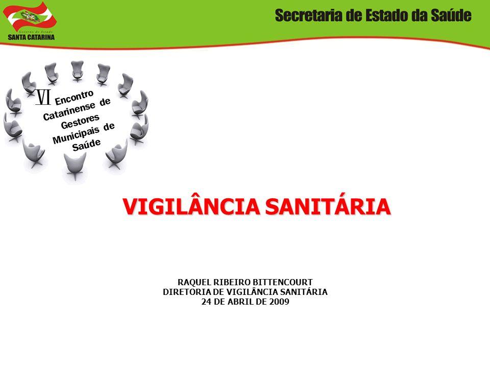 VIGILÂNCIA SANITÁRIA RAQUEL RIBEIRO BITTENCOURT DIRETORIA DE VIGILÂNCIA SANITÁRIA 24 DE ABRIL DE 2009