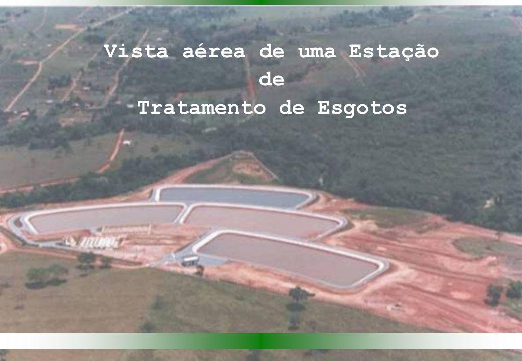 Vista aérea de uma Estação de Tratamento de Esgotos