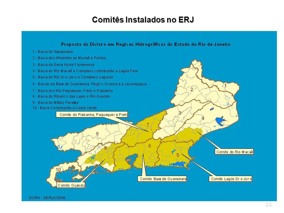 26 Comitês Instalados no ERJ