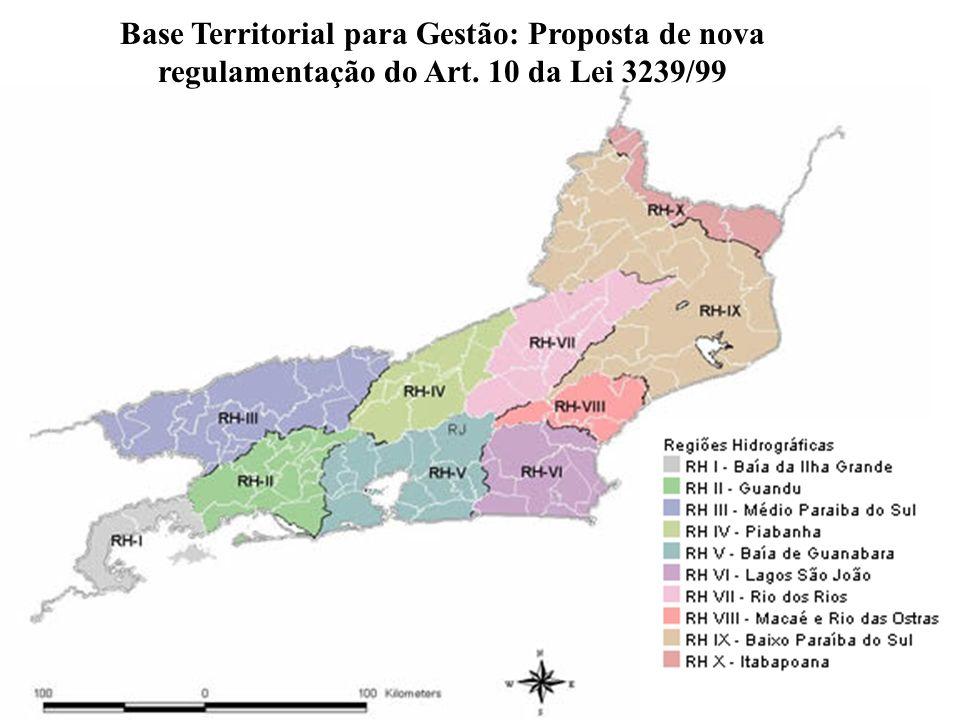 27 Base Territorial para Gestão: Proposta de nova regulamentação do Art. 10 da Lei 3239/99