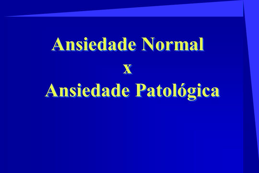CLASSIFICAÇÃO SEGUNDO A CID - 10 F 40 - Transtorno fóbico-ansiosos F 40.0 - Agorafobia F 40.00 - Agorafobia sem transtorno do pânico F 40.01 - Agorafobia com transtorno do pânico F 40.1 - Fobias sociais F 40.2 - Fobias específicas (isoladas) F 41.0 - Transtorno do Pânico F 41.1 - Transtorno de ansiedade generalizada TRANSTORNOS ANSIOSOS
