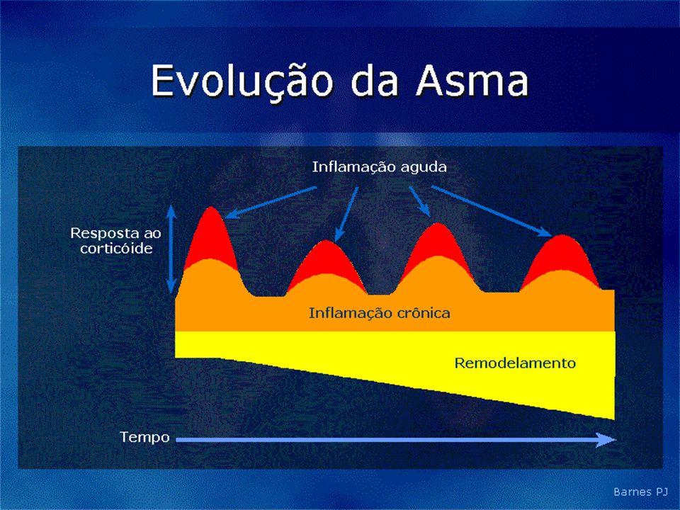 Dispositivos Inalatórios utilizados na crise de asma Menor deposição Menor aproveitamento Maior tempo administração Maior custo Menor controle medicam