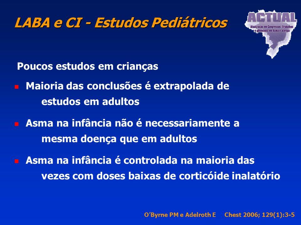 ß2 agonista de longa duração Combinação de ß2 agonista de longa é o tratamento mais efetivo disponível para o tratamento de asma não controlada com do