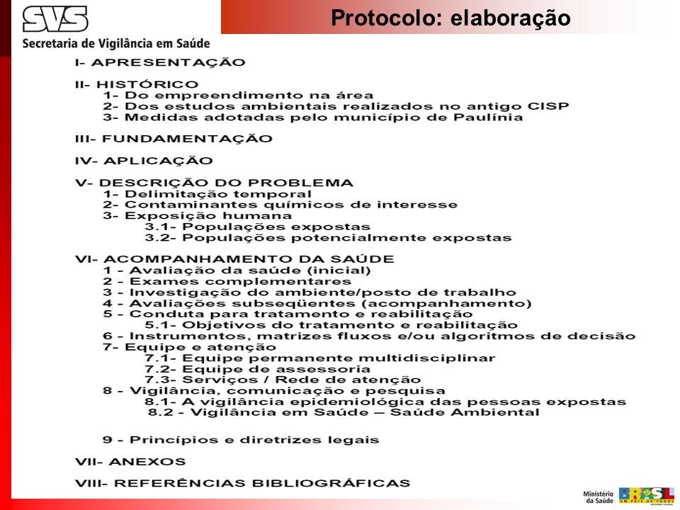 Protocolo: elaboração