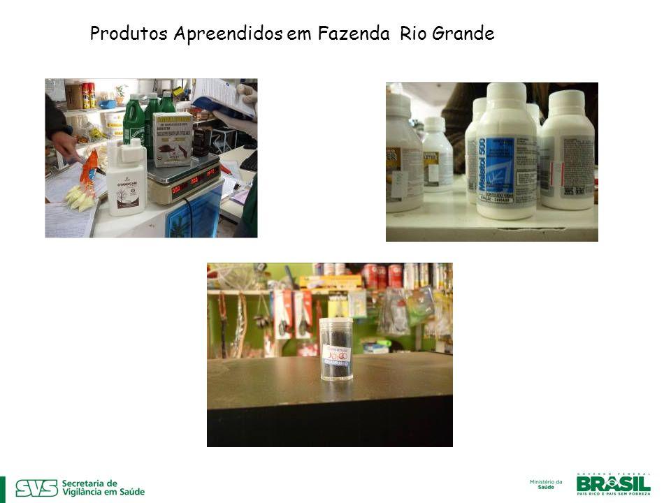 Produtos Apreendidos em Fazenda Rio Grande