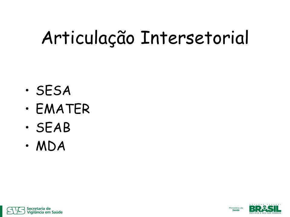 Articulação Intersetorial SESA EMATER SEAB MDA