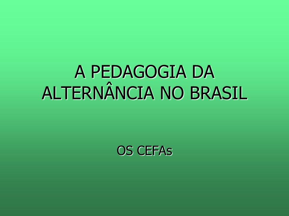 A PEDAGOGIA DA ALTERNÂNCIA NO BRASIL OS CEFAs