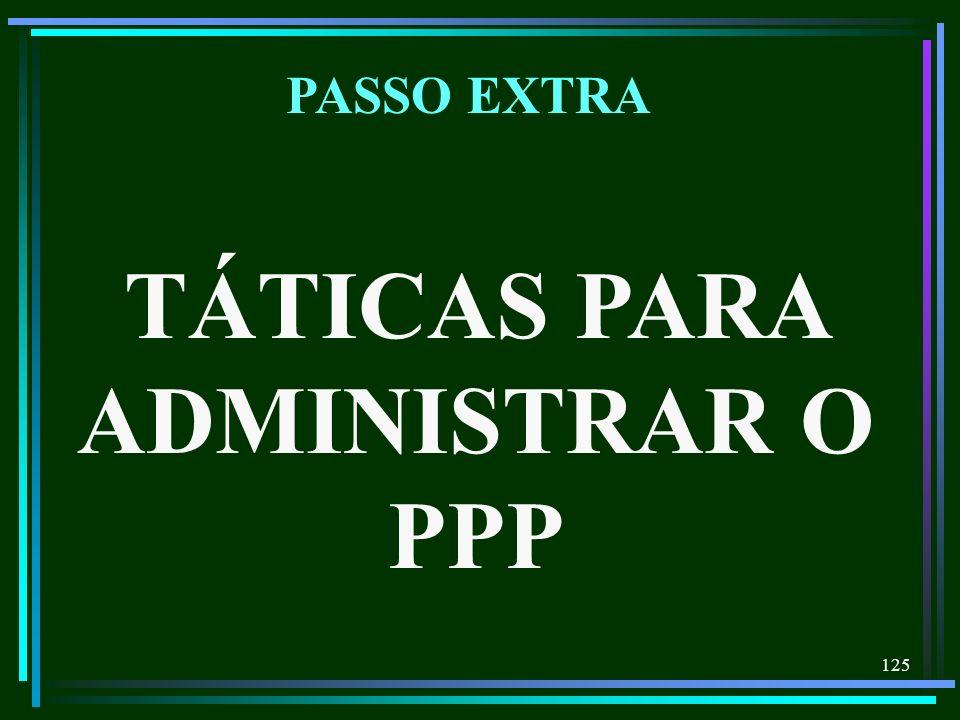 125 TÁTICAS PARA ADMINISTRAR O PPP PASSO EXTRA