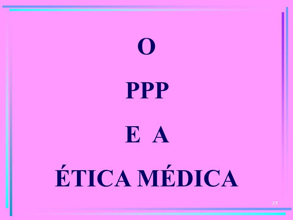 35 O PPP E A ÉTICA MÉDICA