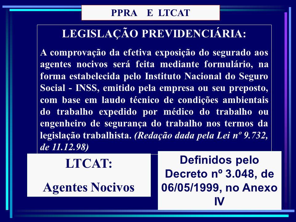 46 LEGISLAÇÃO PREVIDENCIÁRIA: A comprovação da efetiva exposição do segurado aos agentes nocivos será feita mediante formulário, na forma estabelecida