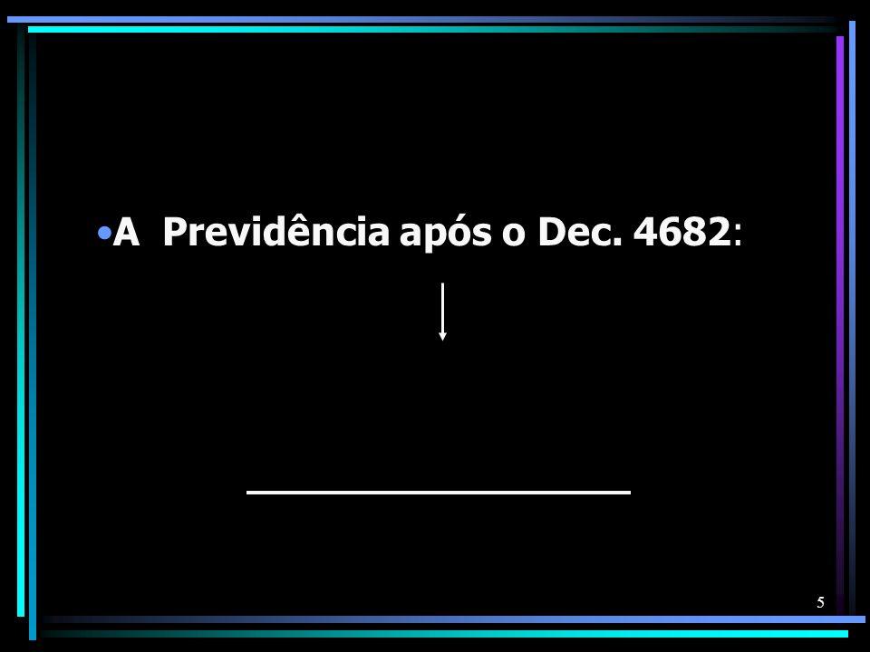 5 A Previdência após o Dec. 4682: