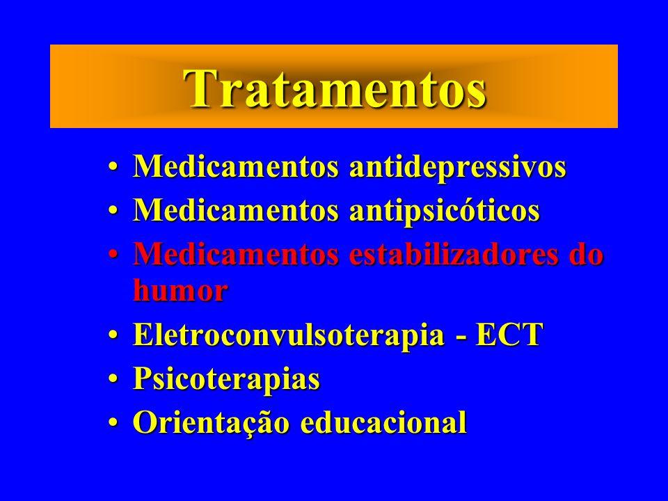 Tratamentos Medicamentos antidepressivosMedicamentos antidepressivos Medicamentos antipsicóticosMedicamentos antipsicóticos Medicamentos estabilizador