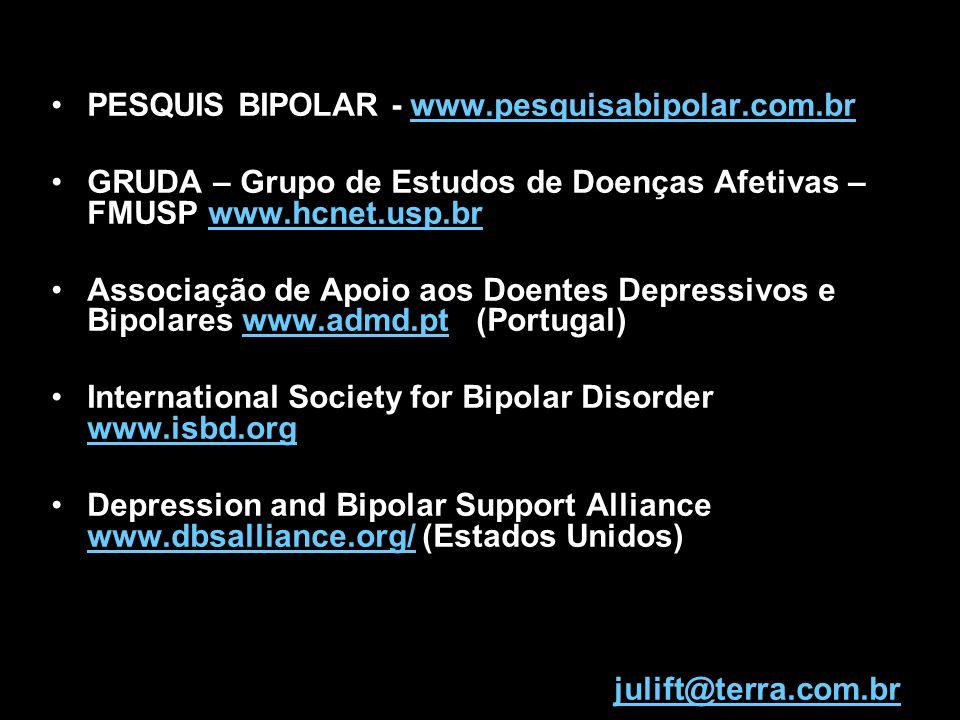 PESQUIS BIPOLAR - www.pesquisabipolar.com.brwww.pesquisabipolar.com.br GRUDA – Grupo de Estudos de Doenças Afetivas – FMUSP www.hcnet.usp.brwww.hcnet.