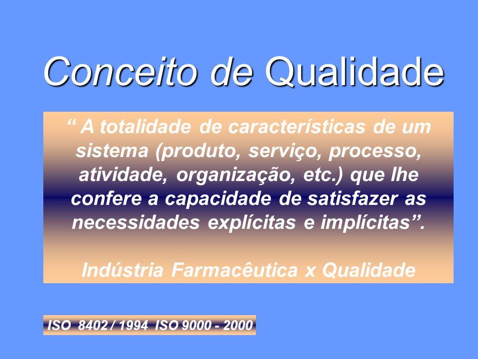 A totalidade de características de um sistema (produto, serviço, processo, atividade, organização, etc.) que lhe confere a capacidade de satisfazer as