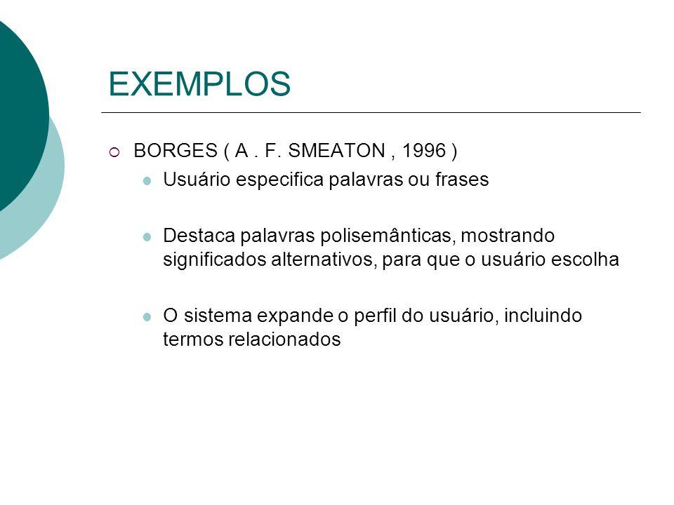 Técnica de Representação de Textos n Extração de conceitos importantes em documentos ä Heurística de frequência de palavras ä EX: Term Frequency-Inver