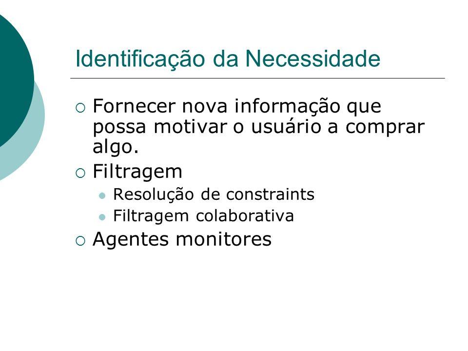 Tecnologias Sistemas de recomendação Filtragem baseada em conteúdo Filtragem colaborativa Filtragem baseada em restrições Negociação Constraint Satisf