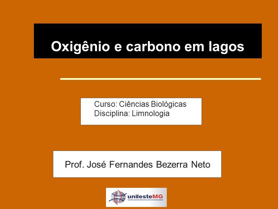 Oxigênio e carbono em lagos Curso: Ciências Biológicas Disciplina: Limnologia Prof.