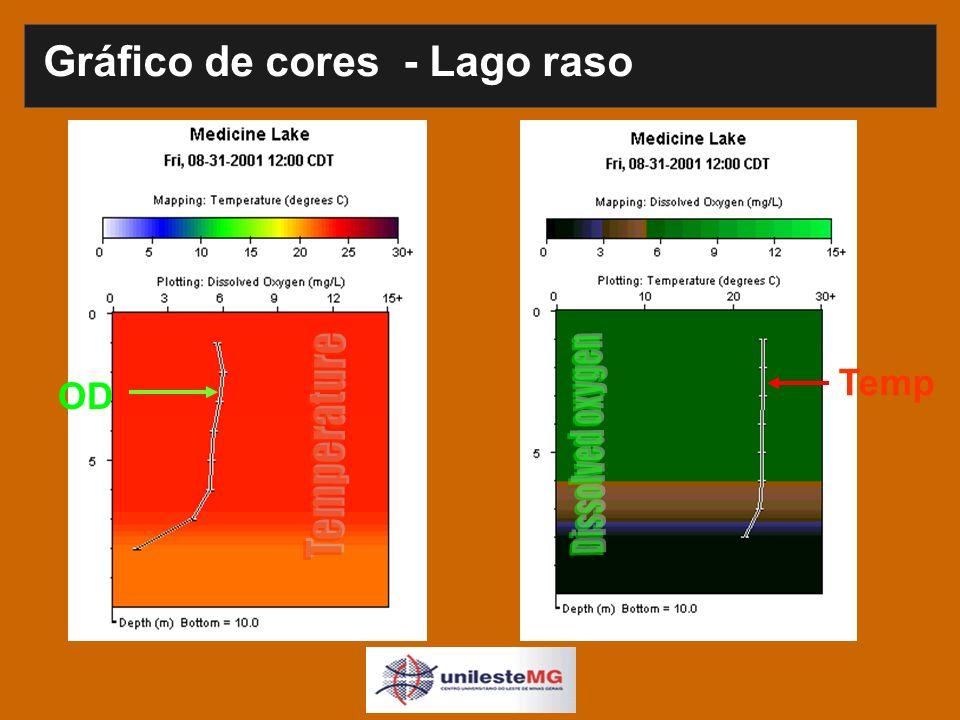 Gráfico de cores - Lago raso OD Temp