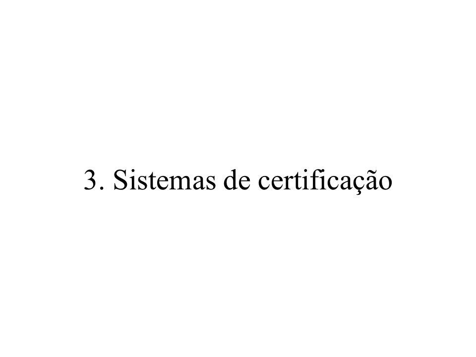 3. Sistemas de certificação