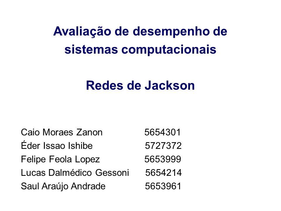 Avaliação de desempenho de sistemas computacionais Redes de Jackson Caio Moraes Zanon 5654301 Éder Issao Ishibe 5727372 Felipe Feola Lopez 5653999 Luc