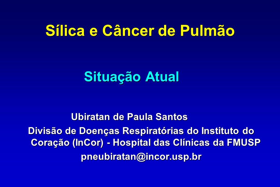 Meta-análise de estudos de câncer de pulmão entre silicóticos Smith AH, et al.