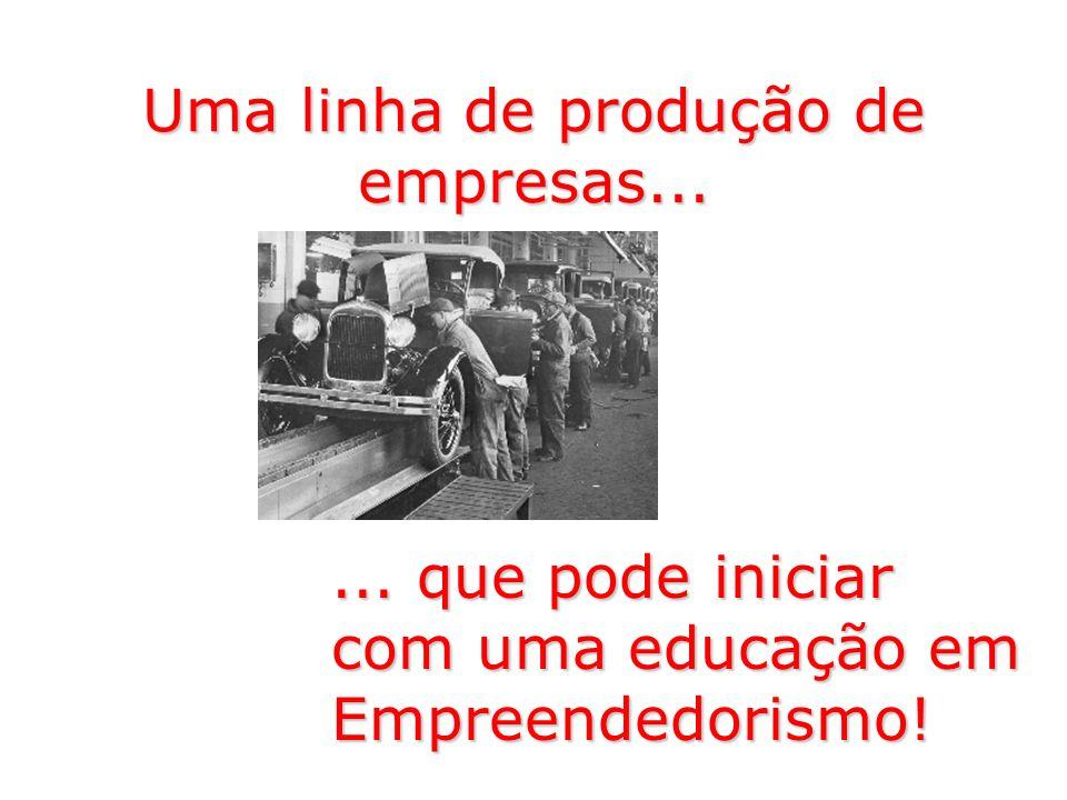 Uma linha de produção de empresas...... que pode iniciar com uma educação em Empreendedorismo!