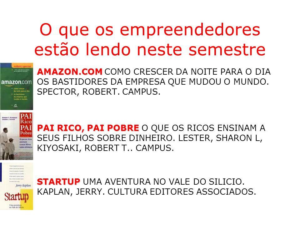 O que os empreendedores estão lendo neste semestre AMAZON.COMAMAZON.COM COMO CRESCER DA NOITE PARA O DIA OS BASTIDORES DA EMPRESA QUE MUDOU O MUNDO. S