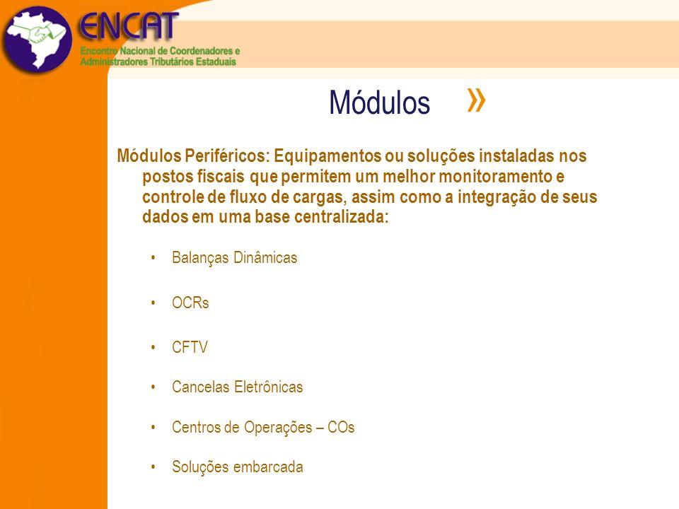 Módulos » Módulos Periféricos: Equipamentos ou soluções instaladas nos postos fiscais que permitem um melhor monitoramento e controle de fluxo de carg