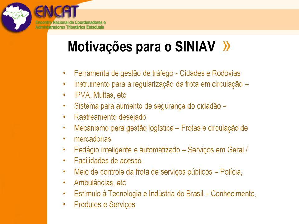 Motivações para o SINIAV » Ferramenta de gestão de tráfego - Cidades e Rodovias Instrumento para a regularização da frota em circulação – IPVA, Multas