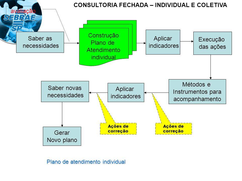 Plano de atendimento individual Saber as necessidades Aplicar indicadores Execução das ações Métodos e Instrumentos para acompanhamento Aplicar indica
