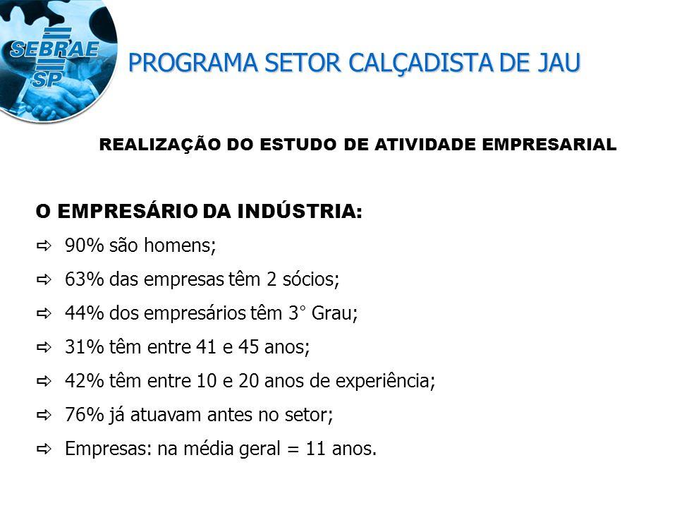 Estudo da Atividade Empresarial Calçados Femininos - JAÚ Quantidade de Empresas % - Capacidade de Produção