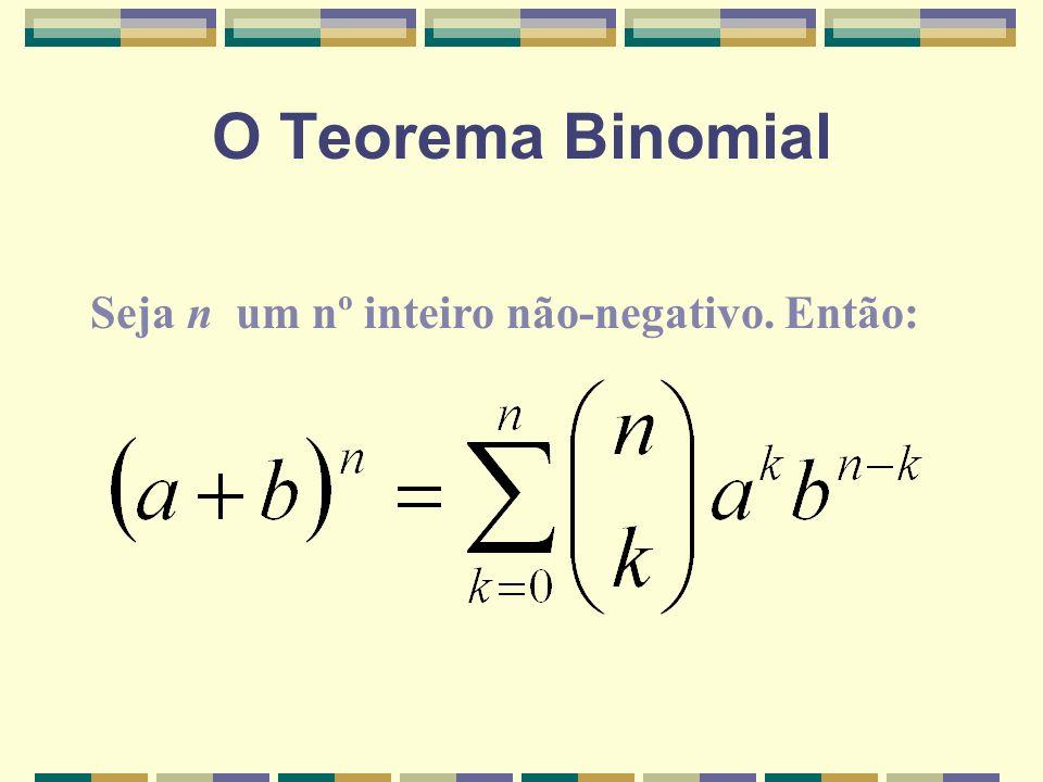 O Teorema Binomial Seja n um nº inteiro não-negativo. Então: