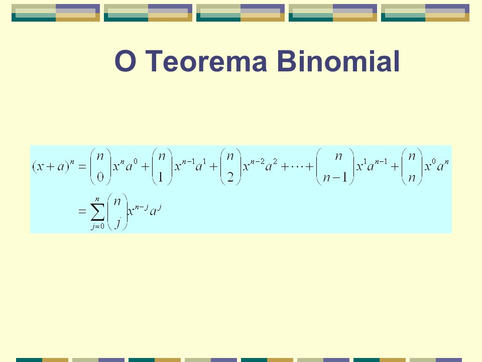 O Teorema Binomial
