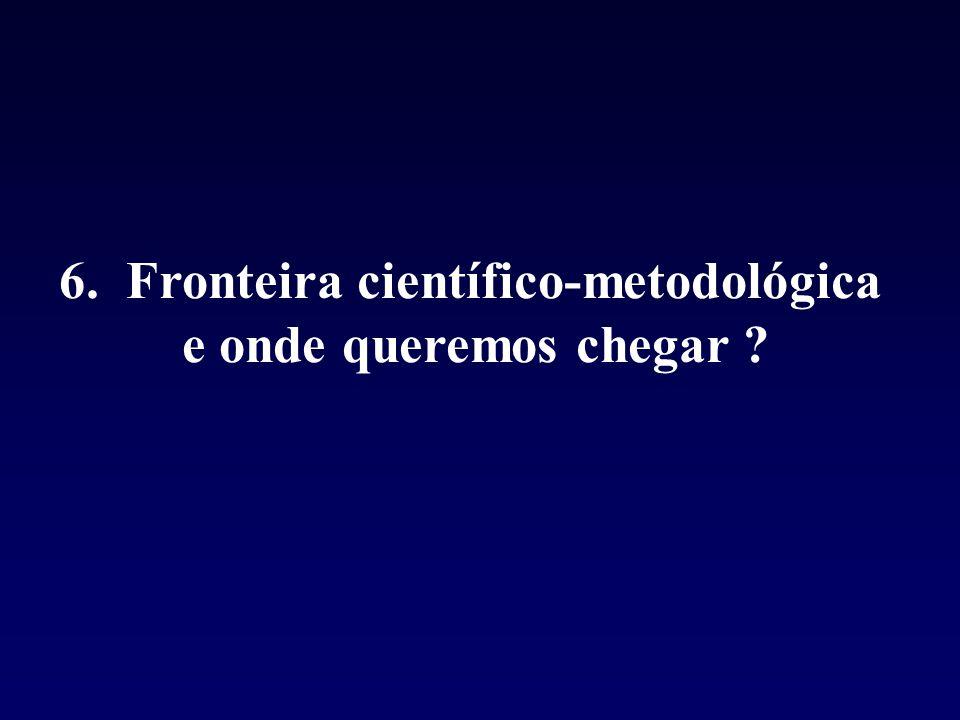 6. Fronteira científico-metodológica e onde queremos chegar ?